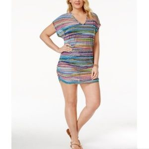 Plus Size ANNE COLE Mesh Cover-Up Tunic